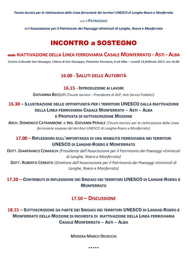 Programma Convegno Ferrovie UNESCO (Alba 13 02 17)