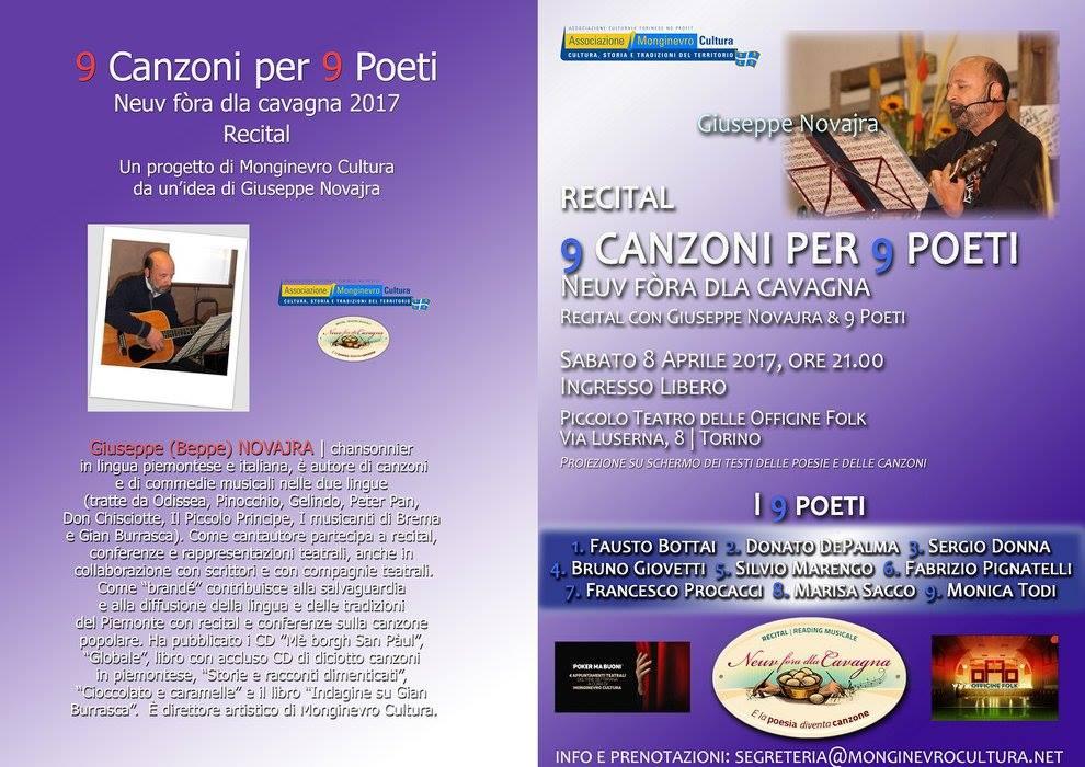 9 canzoni per 9 poeti