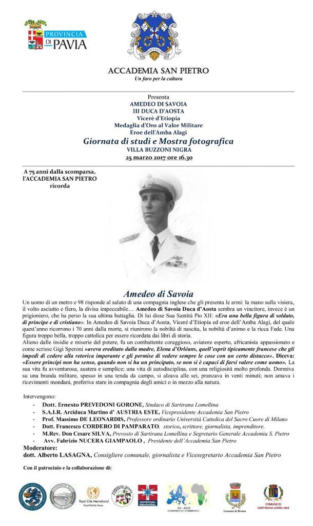 Amedeo Di Savoia 25 03 2017