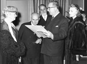 Renzo Gandolfo a Roma con Luigi Einaudi e Giuseppe Pella