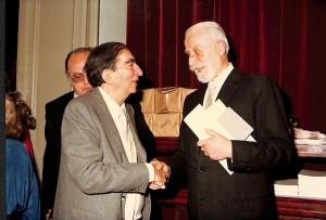 Renzo Gandolfo con Gianfranco Contini.