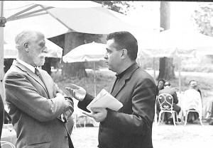 Renzo Gandolfo con Giuliano Gasca Queirazza.