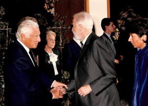 Renzo Gandolfo con il Presidente della Fiat Giovanni Agnelli