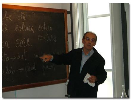 Carlin Muss a la sede 'd Gioventura Piemontèisa